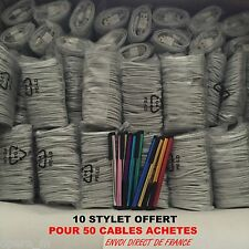 Pour iPHONE 6/5/S/C/ iPAD 4 Air mini iTOUCH 5 LOT 5-10-20-50..CABLE USB CHARGEUR