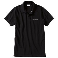 Porsche Men's Classic Black Polo Shirt with Script Logo