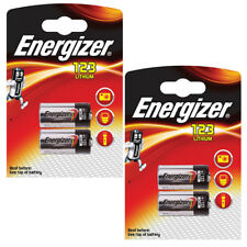 2/4 x Energizer Battery CR123 Lithium 123 123A Photo Camera Batteries 3v