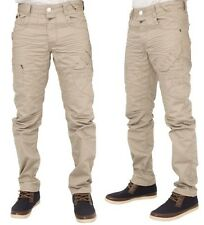 MENS NEW JEANS EM504 IN STONE COLOUR TAPERED LEG JEANS BARGAIN PRICE RRP £44.99