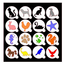 ANIMALS / PETS Cupcake / Coffee Stencils / Masks - cakes / cards / crafts