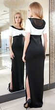 Long Party Evening Womens Cocktail Lace Prom Formal Knee Maxi Dress UK 8 - 18