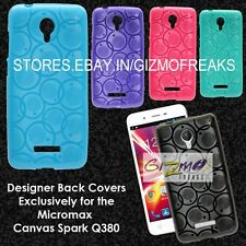 Designer Soft Silicon Back Cover Case Pouch For Micromax Canvas Spark Q380