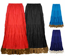 WOMENS LADIES PARTY LONG MAXI SKIRT PLEATED SUMMER DRESS 8-16