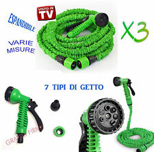 "Tubo Pompa Irrigazione Giardino ""VISTO TV"" Estensibile Elastico MAGIC HOSE"