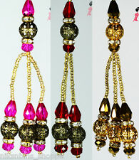 Red, Golden, Pink Beads with Diamond Ring Latkan for Kurti Blouse