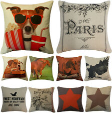 Luxury Quality Cotton Retro Vintage Cushion Covers or Filled Cushions