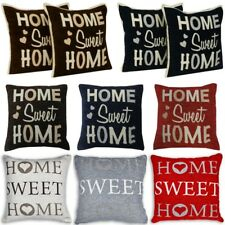 Home Sweet Home Chenille Cushion Covers or Filled Cushions IN 6 Colours