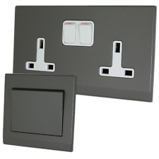 Retrotouch Simplicity Mid Grey Screwless Sockets and Switches - Full Range