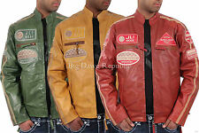 Aviatrix Mens Boys JLI Mode Real Leather Bikers Jacket Vintage Urban Retro Look