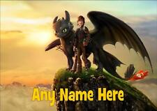 HOW TO TRAIN YOUR DRAGON HICCUP AND TOOTHLESS PERSONALISED PLACEMAT