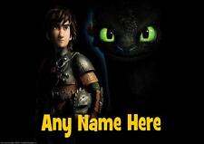 HOW TO TRAIN YOUR DRAGON HICCUP AND TOOTHLESS b PERSONALISED PLACEMAT