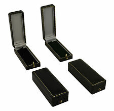 Slim Pendant/Drop Earring Boxes Luxury Antique Style Leatherette Gift Boxes