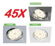 45X SPOT ENCASTRABLE CARRE ORIENTABLE LED GU10 SMD =50W HALO CHOIX DE FINITION