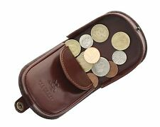 Visconti MONZA Collection Vegetable Tanned Leather Tray Coin Purse TRY5