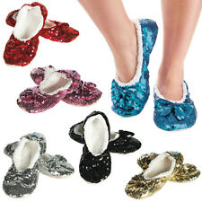 Pantofole Invernali Donna Ballerina Bling Soft Snoozies Ciabatte Pile Paillettes