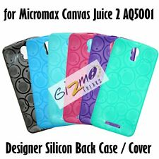 Designer Soft Silicon Back Cover Case Pouch For Micromax Canvas Juice 2 AQ5001