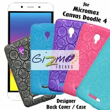 Designer Soft Silicon Back Cover Case Pouch For Micromax Canvas Doodle 4 Q391