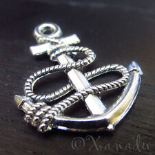 Boat Anchor Wholesale Nautical Silver Plated Charms C3334 - 10, 20 or 50PCs