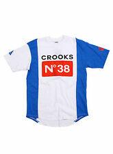 Brand New Crooks And Castles Stadium Knit Football T-shirt Size S-XL