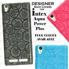 For Intex Aqua Power Plus Circular Design Soft Silicon Back Cover Case Pouch