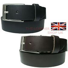 35mm  Mens High Quality Real Waxi Jean Trousers Leather Belt Made In UK