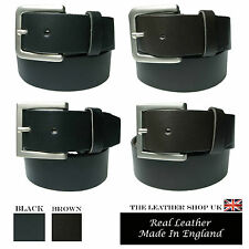 40mm Mens Black Brown New High Quality Mens Waxi Jean And Trouser Leather Belt