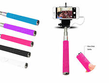 Monopod Selfie Stick Telescopic Wired Remote Mobile Holder For Apple iPhones