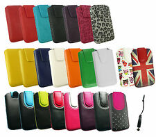 Stylish PU Leather Case Cover with Pull Tab for Bogo Phones & Stylus