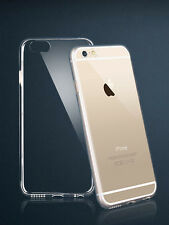 Clear Apple iPhone 6 4.7 or 6 PLUS 5.5 Flexible Back Case Cover + Protector