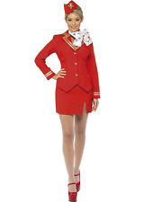 Red Air Hostess Trolley Dolly Costume