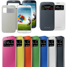 New Slim S VIEW Flip Smart Case Cover For Samsung GALAXY SIV S4 i9500 i9505