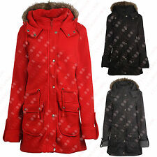 F71 NEW WOMENS FUR HOODED LADIES PARKA PLUS BIG SIZE JACKET COAT IN 08-28