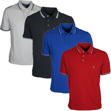 Mens French Connection Collared Polo T-shirt  Cotton Blue Red Grey Size S to 2XL