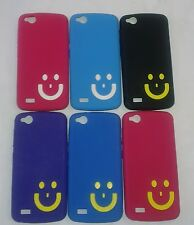 Gionee Elife E3 Soft Silicon Smiley Back Cover Cases/Screen Guard/Tempered Glass