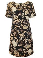 NEW M & S  LOVELY FLORAL PRINT VISCOSE CREPE A-LINE DRESS- SIZE 10-20