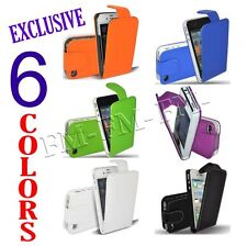 PREMIUM LEATHER FLIP CASE COVER POUCH FOR APPLE IPHONE 4 4S 4G