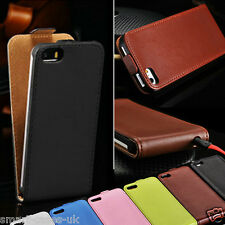 MAGNETIC LEATHER FLIP CASE COVER FOR iPHONE 4 4S 5 5S 6 6+ FREE SCREEN PROTECTOR