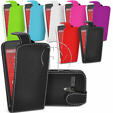 LEATHER CASE FLIP CASE COVER POUCH FOR MOTOROLA MOTO G