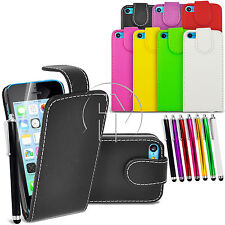 LEATHER CASE FLIP CASE COVER POUCH FOR APPLE IPHONE 5C