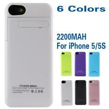 2200mAh Portable Battery Case Power Bank Pack Backup Charger for iPhone 5 5G 5S