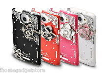 BLING DIAMOND LUXURY HARD CASE SKIN COVER & SCREEN PROTECTOR FOR HTC One X