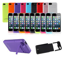 For iPhone 5 5S Portable External Power Bank Battery Charger Charging Case Cover