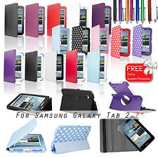 New Leather Smart Case Cover for Samsung Galaxy Tab 2 P3100 P3110 7 Inch Tablet