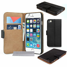 Accessories For All Apple iPhones Real Genuine Leather Wallet Phone Case Cover