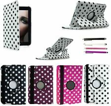 360 Rotate Polka Dots Leather Case for Samsung Galaxy Tab 2 7.0 P3100 P3110 + ST