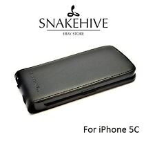 SNAKEHIVE® Genuine Real Leather Flip Case Cover for Apple iPhone 5C