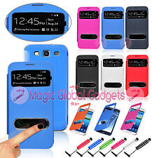 SLIM  SMART BATTERY FLIP CASE COVER FOR SAMSUNG GALAXY MOBILE PHONES