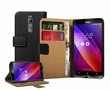 WALLET Leather Flip Case Cover Pouch Saver For Asus Zenfone 2 (ZE551ML) +2 films