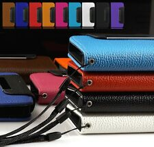 NEW LUXURY WALLET FLIP LEATHER CASE COVER FOR APPLE IPHONE 5 5S +FREE SCREEN PRO